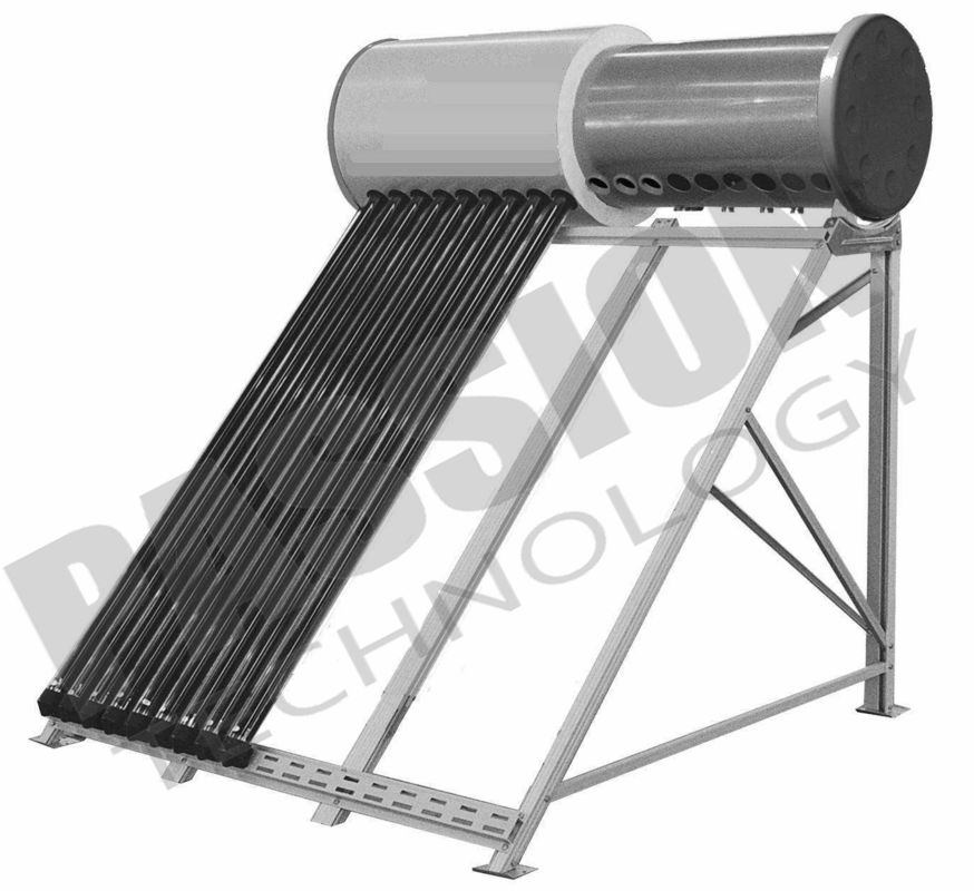 High Pressure Vacuum Tube Solar Water Heater Thermosyphon System OEM Available