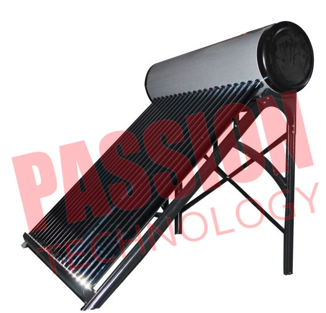 Stainless Steel Solar Water Heater 300 Liter , Sun Hot Water Heater Glass Tube
