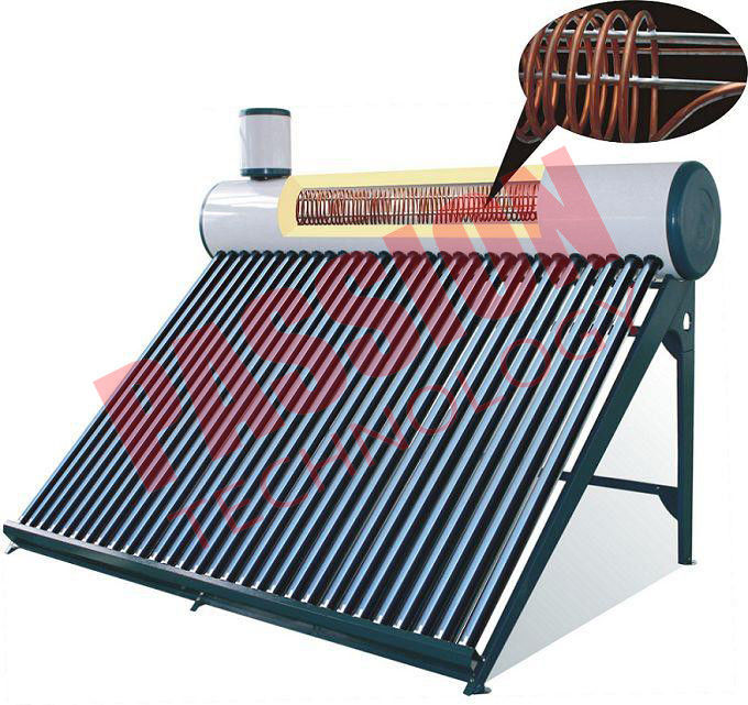 High Efficiency Pre Heated Solar Water Heater For Homes Integrated Structure